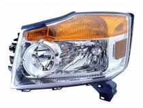 2008 - 2012 Nissan Armada Front Headlight Assembly Replacement Housing / Lens / Cover - Left (Driver)