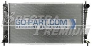 2005-2008 Ford F Series Pickups Radiator (4.2L V6 / 4.6L V8 / 5.4L V8 / Light Duty / 1-inch Core)