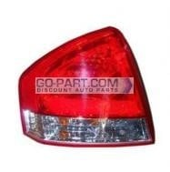 2009-2009 Kia Spectra Tail Light Rear Brake Lamp - Left (Driver)