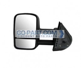 2007-2011 Chevrolet (Chevy) Silverado Pickup Side View Mirror (Manual) - Left (Driver)