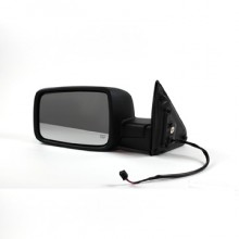 2009-2011 Dodge Ram (Full Size) Side View Mirror (R1500 / Power / Heated / Black) - Left (Driver)