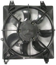 2007 - 2009 Hyundai Santa Fe Radiator Cooling Fan Assembly (Left Side / 2.7L / Without Towing Package)