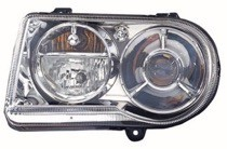 2006 - 2010 Chrysler 300 + 300C Front Headlight Assembly Replacement Housing / Lens / Cover - Left (Driver)