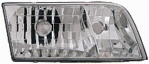 1998-2011 Ford Crown Victoria Headlight Assembly (without Bulbs or Sockets / Replacement Lens Design) - Left (Driver)