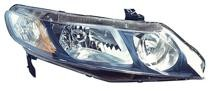 2009 - 2010 Honda Civic Front Headlight Assembly Replacement Housing / Lens / Cover - Right (Passenger)