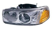 1999 - 2007 GMC Sierra Front Headlight Assembly Replacement Housing / Lens / Cover - Left (Driver)