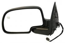 1999 - 2002 GMC Sierra Side View Mirror (Standard Style + Power Remote + Heated + Matte-Black Base) - Left (Driver)