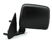 1986 - 1997 Nissan Pickup Side View Mirror (Base (E / SE / XE Models) / Manual / Black) - Left (Driver)