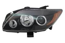 2008 - 2010 Scion tC Front Headlight Assembly Replacement Housing / Lens / Cover - Left (Driver)