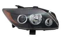 2008 - 2010 Scion tC Front Headlight Assembly Replacement Housing / Lens / Cover - Right (Passenger)