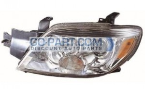 2005-2006 Mitsubishi Outlander Headlight Assembly (LS / SE / XLS) - Left (Driver)