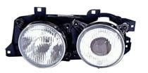 1988 - 1990 BMW 530i Front Headlight Assembly Replacement Housing / Lens / Cover - Left (Driver)