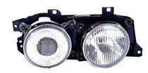 1988 - 1990 BMW 530i Front Headlight Assembly Replacement Housing / Lens / Cover - Right (Passenger)