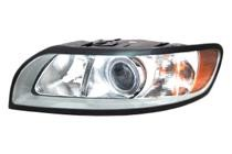 2008 - 2011 Volvo S40 Front Headlight Assembly Replacement Housing / Lens / Cover - Left (Driver)