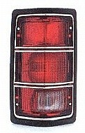 1988 Dodge Dakota Rear Tail Light Assembly Replacement (Without SE Package + Without Chrome Rim) - Left (Driver)