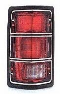 1988-1988 Dodge Dakota Tail Light Rear Brake Lamp (Without SE Package / Without Chrome Rim) - Left (Driver)