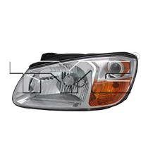 2007 - 2009 Kia Spectra Front Headlight Assembly Replacement Housing / Lens / Cover - Left (Driver)
