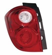 2010 - 2015 Chevrolet (Chevy) Equinox Rear Tail Light Assembly Replacement / Lens / Cover - Left (Driver)