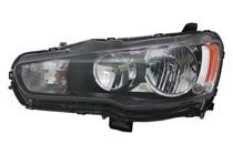 2009 - 2015 Mitsubishi Lancer Evolution Headlight Assembly - Left (Driver)