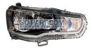 2009-2011 Mitsubishi Lancer Evolution Headlight Assembly - Right (Passenger)
