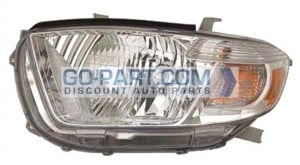2010-2010 Toyota Highlander Headlight Assembly - Left (Driver)