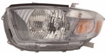 2010 - 2011 Toyota Highlander Front Headlight Assembly Replacement Housing / Lens / Cover - Left (Driver)
