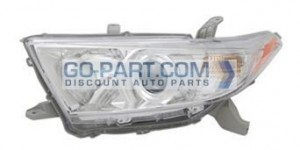 2010-2011 Toyota Highlander Headlight Assembly - Left (Driver)