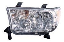 2009 - 2013 Toyota Tundra Pickup Front Headlight Assembly Replacement Housing / Lens / Cover - Left (Driver)