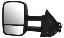 2007 - 2014 Chevrolet (Chevy) Silverado Pickup Side View Mirror (Power + Without OEM Signal Lamp) - Left (Driver)