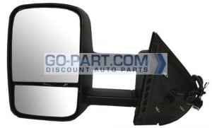 2007-2011 Chevrolet (Chevy) Silverado Pickup Side View Mirror (Power / Without OEM Signal Lamp) - Left (Driver)