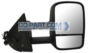 2007-2011 Chevrolet (Chevy) Silverado Pickup Side View Mirror (Power / Without OEM Signal Lamp) - Right (Passenger)