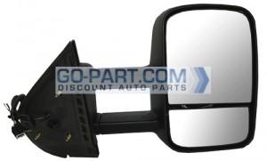 2009-2010 GMC Sierra Hybrid Side View Mirror - Right (Passenger)