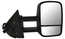 2009 - 2013 GMC Sierra Hybrid Side View Mirror Assembly / Cover / Glass Replacement - Right (Passenger)