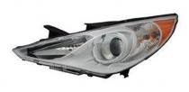 2011 - 2014 Hyundai Sonata Front Headlight Assembly Replacement Housing / Lens / Cover - Left (Driver)