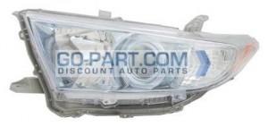 2011-2012 Toyota Highlander Hybrid Headlight Assembly - Left (Driver)