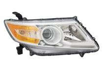 2011 - 2013 Honda Odyssey Front Headlight Assembly Replacement Housing / Lens / Cover - Right (Passenger)