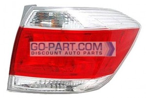 2011-2011 Toyota Highlander Tail Light Rear Brake Lamp - Right (Passenger)