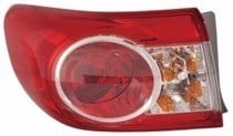 2011 - 2013 Toyota Corolla Tail Light Rear Lamp - Left (Driver)