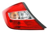 2012 Honda Civic Rear Tail Light Assembly Replacement / Lens / Cover - Left (Driver)