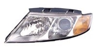 2009 - 2010 Kia Optima + Magentis Front Headlight Assembly Replacement Housing / Lens / Cover - Left (Driver)