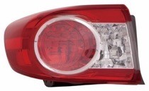 2011 - 2013 Toyota Corolla Outer Tail Light Rear Lamp - Left (Driver)