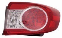 2011 - 2013 Toyota Corolla Outer Tail Light Rear Lamp - Right (Passenger)