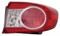 2011 - 2013 Toyota Corolla Outer Rear Tail Light Assembly Replacement / Lens / Cover - Right (Passenger)
