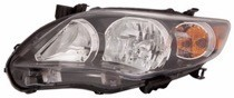 2011 - 2013 Toyota Corolla Front Headlight Assembly Replacement Housing / Lens / Cover - Left (Driver)