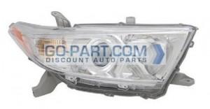 2011-2012 Toyota Highlander Headlight Assembly - Right (Passenger)