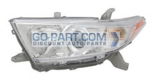 2011-2012 Toyota Highlander Headlight Assembly - Left (Driver)