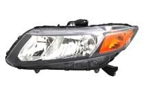 2012 Honda Civic Front Headlight Assembly Replacement Housing / Lens / Cover - Right (Passenger)