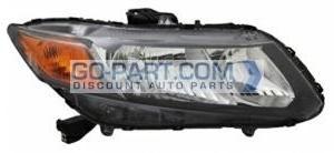 2012-2012 Honda Civic Headlight Assembly - Right (Passenger)