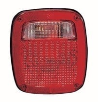 1987 - 1990 Jeep Wrangler Tail Light Rear Lamp - Left (Driver)