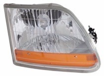 2001 - 2004 Ford F-Series Light Duty Pickup Front Headlight Assembly Replacement Housing / Lens / Cover - Right (Passenger)